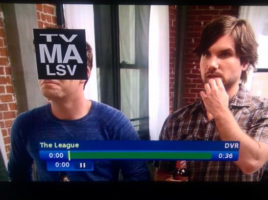 "Talking TV-MA box from ""The League"" S02E04"